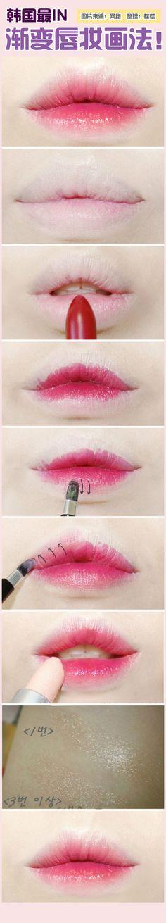 Trendy Makeup Tutorial Asian Gradient Lips Ideas Trendy Make-up Tutorial Asian Gradient Lips I Kawaii Makeup, Cute Makeup, Lip Makeup, Weird Makeup, Make Up Tutorials, Korean Makeup Tutorials, Makeup Inspo, Makeup Inspiration, Makeup Ideas