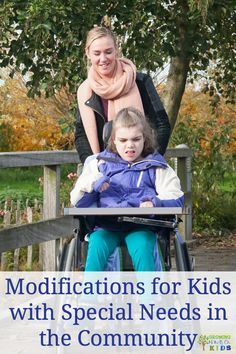 Modifications for kids with special needs in the community, plus activity and job ideas in the community. Proprioceptive Activities, Sensory Activities, Therapy Activities, Therapy Ideas, Pediatric Physical Therapy, Occupational Therapy, Physical Therapist, Kids Braces, Special Needs Kids