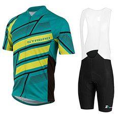 Mens Full Zipper Breathable Short Sleeves Cycling Jersey Bib Shorts Biking  Top Wear Suit Size 3XL dd607c1f5