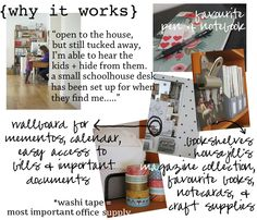 Jill's Office The Happy Space Project Workspace Issue (January Space Projects, Design Interiors, Workspaces, It Works, Homeschool, January, Happy, Diy, Nest Design