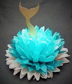 Mermaid Poms | Ocean Poms | Mermaid Party Decor | Mermaid Centerpiece Little Mermaid Decorations, Mermaid Birthday Decorations, Mermaid Theme Birthday, Little Mermaid Birthday, Little Mermaid Parties, Mermaid Crafts, Mermaid Diy, Baby Mermaid, Underwater Birthday