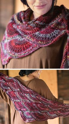 Free Knitting Pattern for Carol Shawl - This triangular wrap is knit with a modu. Free Knitting Pattern for Carol Shawl - This triangular wrap is knit with a modular construction in lace shells. Crochet Lace Scarf, Crochet Lace Edging, Knitted Shawls, Crochet Scarves, Lace Knitting, Knit Crochet, Knit Poncho, Knitting Designs, Knitting Patterns Free