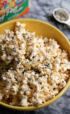 Everything Bagel Popcorn | Joanne Eats Well With Others