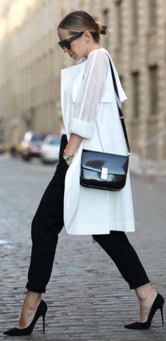 black and white chic minimalism