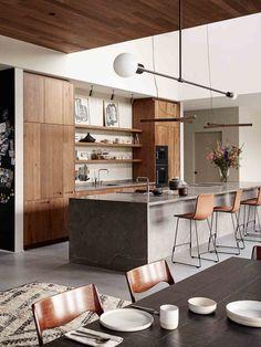New kitchen loft wood interior design ideas Outdoor Kitchen Design, Modern Kitchen Design, Home Decor Kitchen, New Kitchen, Kitchen Wood, Loft Kitchen, Awesome Kitchen, Kitchen Things, Kitchen Ideas