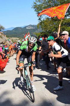 Vuelta a España 2014 - Stage 11: Pamplona - San Miguel de Aralar (Navarre) 153.4km - #LaVuelta #LaVuelta2014 #Vuelta #Vuelta2014 #VueltaEspana - Robert Gesink (Belkin) put in a vicious attack on the climb to San Miguel de Aralar