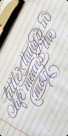 Cursive Tattoo Letters, Tattoo Lettering Alphabet, Tattoo Lettering Design, Cursive Tattoos, Graffiti Lettering Fonts, Calligraphy Tattoo, Tattoo Script, Tattoo Design Drawings, Script Lettering