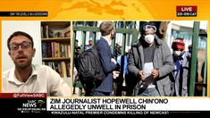 Zimbabwean journalist Hopewell Chin'ono reported to be ill Zimbabwe, Allegedly, Homeland, Prison, Youtube, Youtubers, Youtube Movies