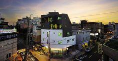 상가주택-3 _ 정겨운 동네 풍경을 밝히는 집, 스튜디오 + 임대원룸 + 살림집 / 망원동 '메종 K'