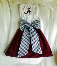 Alabama, Roll Tide Gameday Dress. I'll be wearing this to my next tailgate & game!