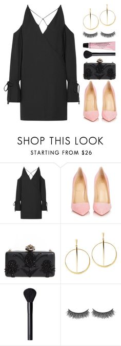 """""""Black&Pink"""" by hope-valerie ❤ liked on Polyvore featuring IRO, Christian Louboutin, Alexander McQueen, Lana, NARS Cosmetics, Battington and H&M"""