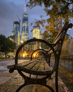 NYC Park Bench, Lower Manhattan