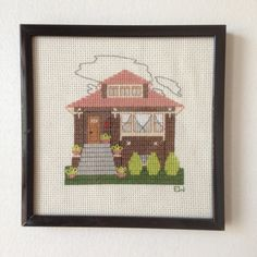 How adorable is this:)  Chicago Bungalow by WindyCityStitchery on Etsy, $80.00