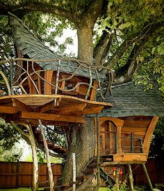 Tree houses that look like part of the tree