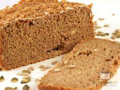 Paine integrala cu seminte Banana Bread, Vegan, Romania, Desserts, Food, Tailgate Desserts, Deserts, Eten, Postres