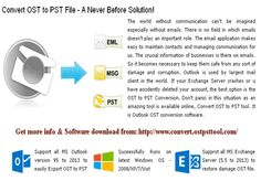 One of the best tool to Convert OST to PST files.