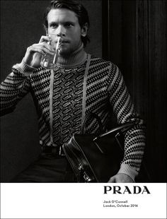 Jack O'Connell in Prada Spring/Summer 2015 campaign. Photographed by Craig McDean.