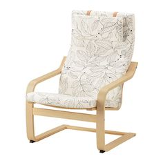 IKEA POÄNG Armchair Birch veneer/ransta natural Layer-glued bent birch frame gives comfortable resilience. Fabric Armchairs, Fabric Sofa, Ikea Fabric, Ikea Armchair, Ikea Chairs, Arm Chairs, Accent Chairs, Ikea Poang Chair, White Armchair