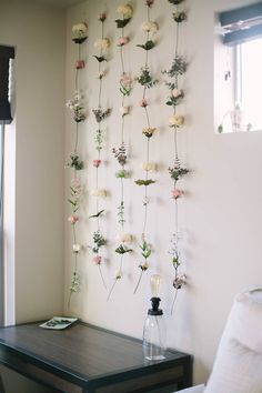 Wohnheim Raumdekor Diy DIY Flower Wall / / Gemma Darr The Root of Attachment Challenges…Trauma, Trau Bedroom Plants, Bedroom Wall, Teen Bedroom, Modern Bedroom, Dorm Plants, Dorm Room Walls, Dorm Rooms, Indoor Plants, Diy Room Decor