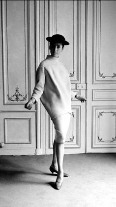 1963 Pierre Cardin two-piece wool dress, Paris,