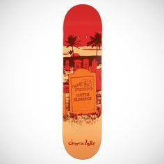 Chocolate Justin Eldridge Tombstone Deck Red/Orangewidth:8.00 - Decks - Skateboard - Hardware
