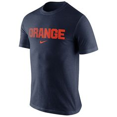 Men's Nike Syracuse Orange Basketball Tri-Blend Tee, Size: Large, Blue (Navy)