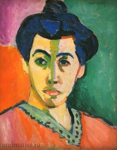 "Madame Matisse, ""The Green Line"" ( La Raie verte). Oil on canvas. Statens Museum for Kunst, Copenhagen, Denmark. artwork by Henri Matisse Henri Matisse, Matisse Kunst, Matisse Art, Raoul Dufy, Most Famous Paintings, Famous Artists, Fauvism Art, Matisse Paintings, Post Impressionism"