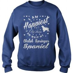I AM HAPPIEST WHEN I AM WITH MY WELSH SPRINGER SPANIEL CREW SWEATSHIRTS T-SHIRTS, HOODIES ( ==►►Click To Shopping Now) #i #am #happiest #when #i #am #with #my #welsh #springer #spaniel #crew #sweatshirts #Dogfashion #Dogs #Dog #SunfrogTshirts #Sunfrogshirts #shirts #tshirt #hoodie #sweatshirt #fashion #style