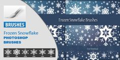Frozen Snowflake Brushes Frozen Snowflake, Photoshop Brushes, Creative Design, Snowflakes, Free, Tips, Snow Flakes, Counseling