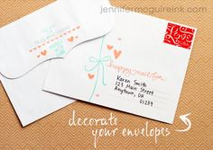 decorate your envelopes!