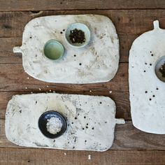 My new platters are inspired by the shapes of old Turkish wooden bread boards.