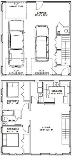 30x32 House -- #30X32H1C -- 986 sq ft - Excellent Floor Plans