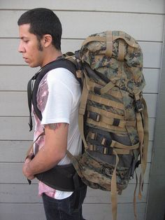 Anthony test-fitting his Tango.     Survival can be your next tirp in the wild(military backpacks|military supplies|tactical backpacks|make your kit|gear camping|gear hiking|gear for camping|gear survival|gear for survival|building shelter|the survival kit|survival tool|survival kit fo