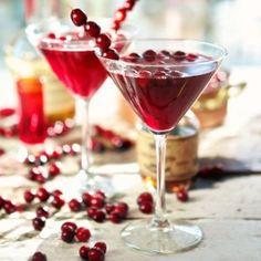 Maple Cranberry Bourbon Martini