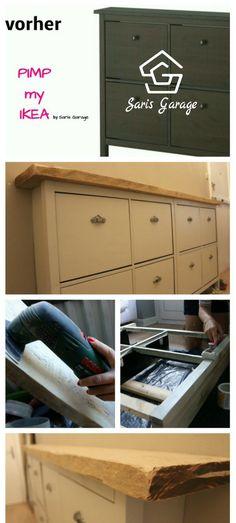 A simple IKEA Hemnes shoe cabinet hack Ikea shoe cabinet, Ikea - ikea küche anleitung