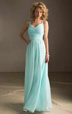 Bridesmaid dresses by Angelina Faccenda style 20412 luxe chiffon. long dress with straps with beading and zipper back. Available in all Luxe Chiffon Colors. Tiffany Blue Bridesmaid Dresses, Bridesmaid Gowns, Wedding Bridesmaids, Prom Dresses, Wedding Dresses, Dress Prom, Dresses 2014, Evening Dresses, Blue Dresses