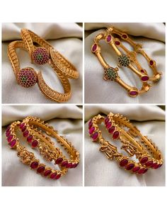 Gold Bangles For Women, Gold Bangles Design, Gold Earrings Designs, Gold Jewellery Design, Gold Jewelry, Jewelery, Leg Mehndi, Gold Mangalsutra Designs, Bridal Bangles