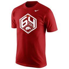 Nike Arkansas Razorbacks Cardinal 1964 Throwback Legend Performance T-Shirt
