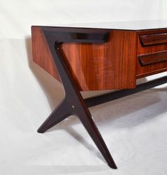 Rare Ico and Luisa Parisi Desk Wood Furniture Store, Cheap Patio Furniture, Ikea Furniture, Cool Furniture, Modern Furniture, Furniture Design, Furniture Outlet, Mid Century Modern Buffet, Living Room Tv Unit Designs