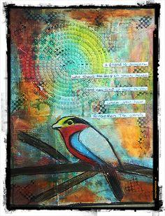 art journal - bird Youtube : http://youtu.be/oOVOBoUUiqo