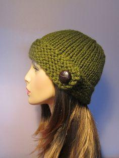 Warm Present for Christmas Hand Knitted Unisex Woollen  Mustard colour  Beanie Winter Hat Knit Accessories