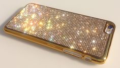 "Gold Diamond iPhone 6 PLUS 5.5 "" Case, +2000 Rhinestone Crystals, Gold-Bronze Electro Plated Case by RangseeCrystalCases on Etsy https://www.etsy.com/listing/215178757/gold-diamond-iphone-6-plus-55-case-2000"