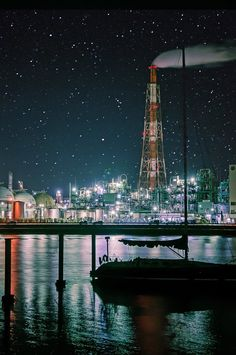 Yokkaichi, Mie, Japan 四日市 | Yuto Inukai Tokyo Night, Night City, Factories, Nihon, City Lights, Japan Travel, Nice View, Land Scape, Marina Bay Sands