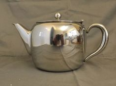 vintage stainless steel teapot