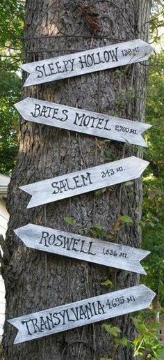 How far to Sleepy Hollow or the Bates Motel?