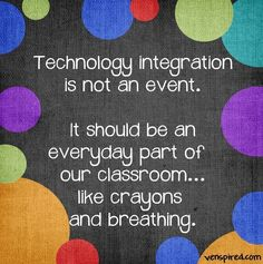 Tech integration in classroom quote via and /Venspired Classroom Quotes, Classroom Posters, Classroom Ideas, Instructional Technology, Educational Technology, Tech Quotes, Technology Quotes, Technology Lessons, Teaching Technology
