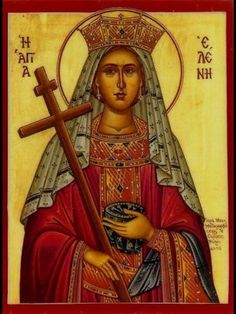 Helen, mother of Constantine the Great. Religious Images, Religious Icons, Religious Art, Byzantine Icons, Byzantine Art, Videos Catolicos, Santa Helena, Greek Icons, Constantine The Great