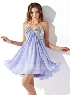 Empire Sweetheart Short Mini Chiffon Homecoming Dress With Ruffle Sequins  (022020840) 67e678045