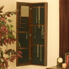 Wall Mounted Jewelry Cabinet & Mirror - Womens Jewelry Boxes at Hayneedle