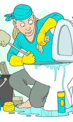 WC-istuimen puhdistus | Meillä kotona